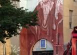 Nostradamus: mural in his hometown, Salon-de-Provence, France